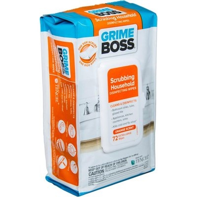 GRIME BOSS Cleaning Wipes Orange Scented Scrubbing Household Disinfecting Wipes (72-Count) M938S72
