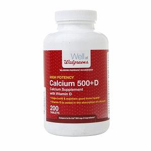 Walgreens Calcium 500+D Tablets