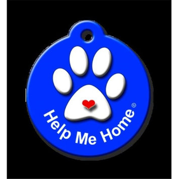 QR Code Pet ID Tag 01-HH-HP-RB Help Me Home Signature Line Royal Blue Dog Tag