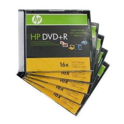 H.P. HP DVD+R 5(10) 5PK 16X 4.7GB 120 min Total of 50 Disks with Jewel Case