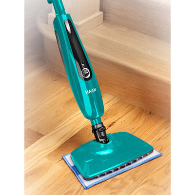 HAAN SI45 SlimPro Steam Mop With Two Pads, Teal, Refurbished
