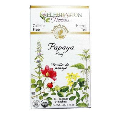 Celebration Herbals Papaya Leaf Herbal Tea Organic Caffeine Free 24 Tea Bags