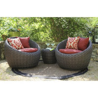 Ace Evert Corona 3-Piece Wicker Patio Conversation Furniture Set