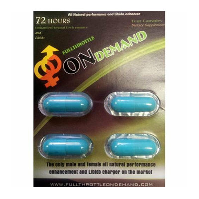 Full Throttle On Demand Natural Male Enhancement 4 Tablets