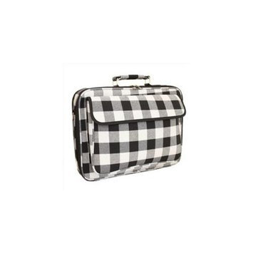 All-Seasons 812010-310 17 inch Laptop Computer Case, Black & White Plaid
