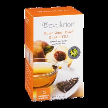 Revolution Black Tea Sweet Ginger Peach - 16 CT