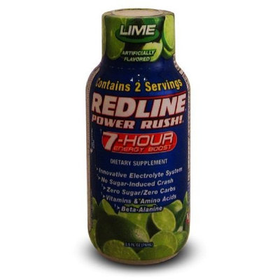 Redline 7 Hour 24 Pack - Redline Power Rush! 7-Hour Energy Boost - Lime - 2.5oz.