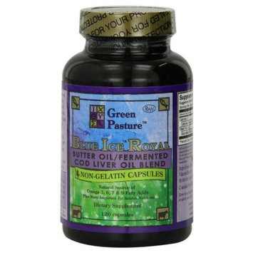 Green Pastures Blue Ice Royal Butter Oil / Fermented Cod Liver Oil Blend - 120 Capsules