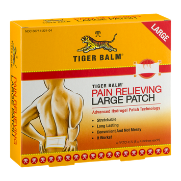 Tiger Balm Pain Relieving Large Patch - 4 CT