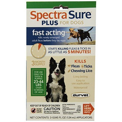 Durvet Spectra Sure PLUS Flea Treatment for 23 to 44-Pound Dogs