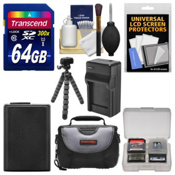 Essentials Bundle for Sony Alpha A6000 Digital Camera & 16-50mm Lens with 64GB Card + Case + NP-FW50 Battery & Charger + Flex Tripod + Kit