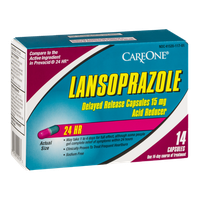 CareOne Lansoprazole Acid Reducer 24 HR Capsules - 14 CT