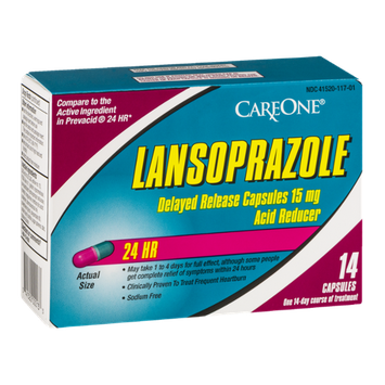 CareOne Lansoprazole Acid Reducer 24 HR Capsules - 14 CT
