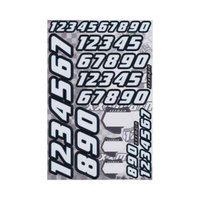 N002 Decals Race Number White
