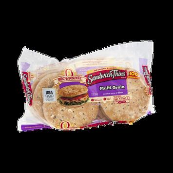Brownberry Sandwich Thins Rolls Multi-Grain - 8 CT