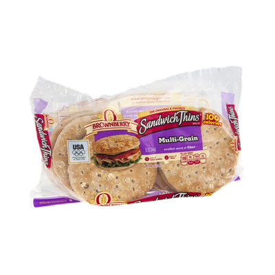 Brownberry Sandwich Thins Rolls Multi-Grain - 8 CT
