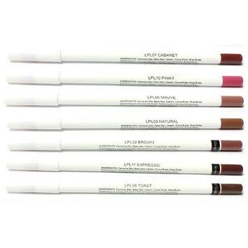 Coastal Scents 7 Piece Lip Pencil Set, 3.55-Ounce