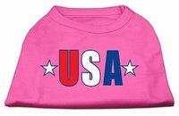 Ahi USA Star Screen Print Shirt Bright Pink XS (8)