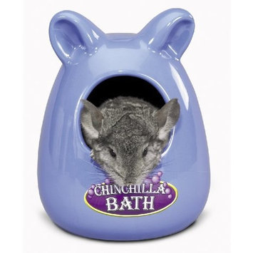 Super Pet Ceramic Large Chinchilla Bath, Colors Vary