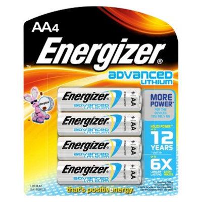 Energizer EA91BP-4 Advanced Lithium AA batteries - 4 pack