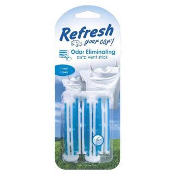 HandStands Refresh Your Car! Odor Eliminating Fresh Linen Auto Vent Sticks 4-pk.