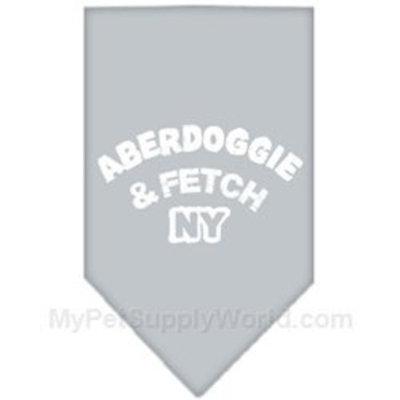 Mirage Pet Products Aberdoggie NY Screen Print Bandana for Pets, Large, Grey