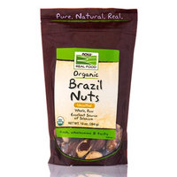 NOW Foods - Organic Brazil Nuts Unsalted - 10 oz.