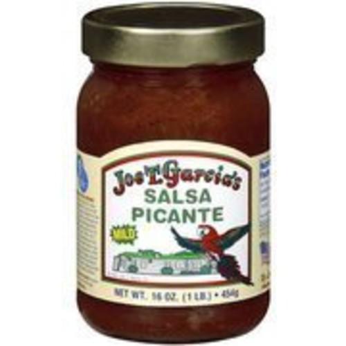 Joe T Garcia's Salsa Picante 16oz Glass Jar (Pack of 6) (Mild)