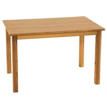 Ecr4kids 24x48 Rect. Hardwood Table w/22 Legs