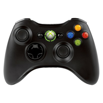 Microsoft Xbox 360 Wireless Controller - Black (Xbox 360)