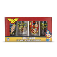ICUP Inc. Wonder Woman Boxed Pint Glass Set of 4