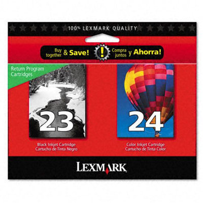 Lexmark No. 23/24 Black and Color Twin Pack Ink Cartridges