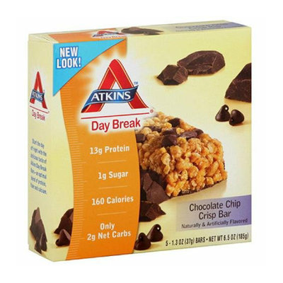 Atkins Day Break Bar Chocolate Chip Crisp 5 Bars