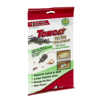 Tomcat Glue Boards Captures Mice - 4 CT