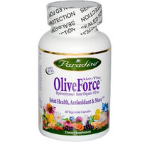 Paradise Herbs Medvita Olive Force Vegetarian Capsules, 60 Count