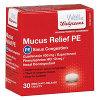Walgreens Mucus Relief PE Sinus Congestion Tablets