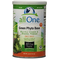 All One Nutrition Multiple Vitamin and Mineral Powder, Uned Green Phyto Base, 15.9 Ounce