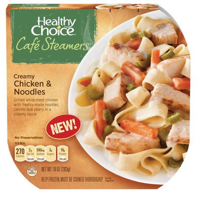 Conagra Foods, Inc HEALTHY CHOICE Creamy Chicken and Noodles Caf? Steamers, 10 ounces