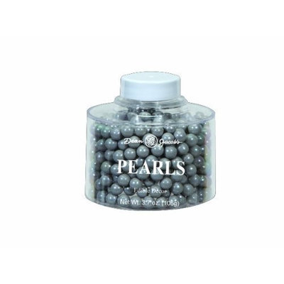 Dean Jacob's Edible Decoration Pearls Stacking Jar, Silver, 5.6-Ounce (Pack of 6)