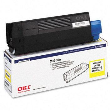 Okidata Corporation 43034801 Toner Cartridge, Yellow - OKIDATA
