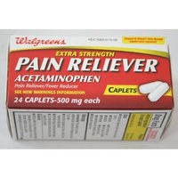 Pain Reliever Acetaminophen 500 mg, 6 Boxes Of 24 Caplets, (Compare to Tylenol)