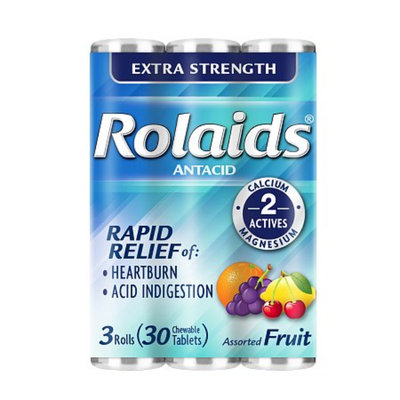 Rolaids Extra Strength Antacid Chewable Assorted Fruit Tablets - 30