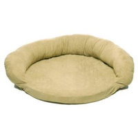 Hayneedle Habitats Large Protector Pad with Bolster Pet Bed - Sage-DISCONTINUED