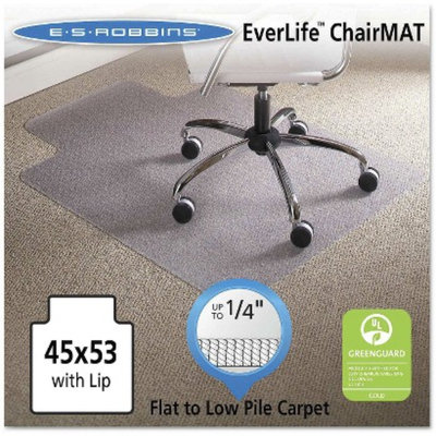 ES Robbins Task Series AnchorBar Lip Chair Mat for Carpet up to 1/4
