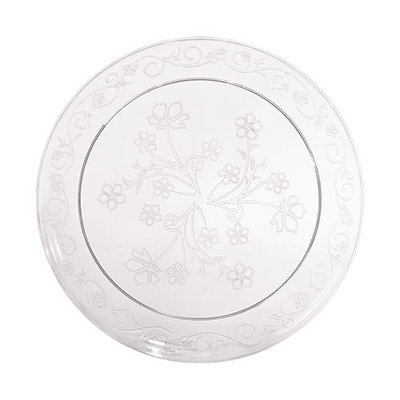 King Zak Ind Lillian Tablesettings 13260 D'Vine 6.25 in. Clear D'Vine Plate Dinnerware - 240 Per Case