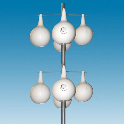Heath Outdoor Products 301X8 13.5' Aluminum Purple Martin Gourd Pole 8pc