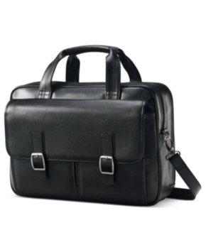 Samsonite Leather 2 Pocket Briefcase