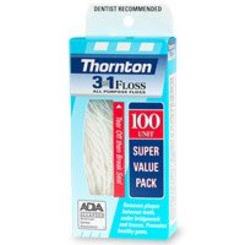Thornton 3-in-1 All Purpose Floss 100 ea