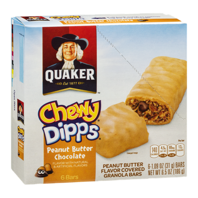 Quaker Chewy Dipps, Peanut Butter Chocolate