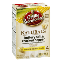 Orville Redenbacher's Naturals Gourmet Popping Corn Buttery Salt & Cracked Pepper